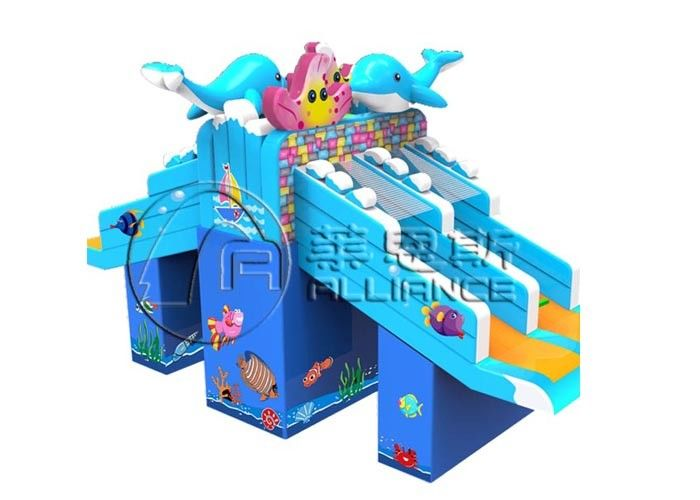 Gurgling Aquarium Commercial Inflatable Water Slides Kids Blow Up Water Slide