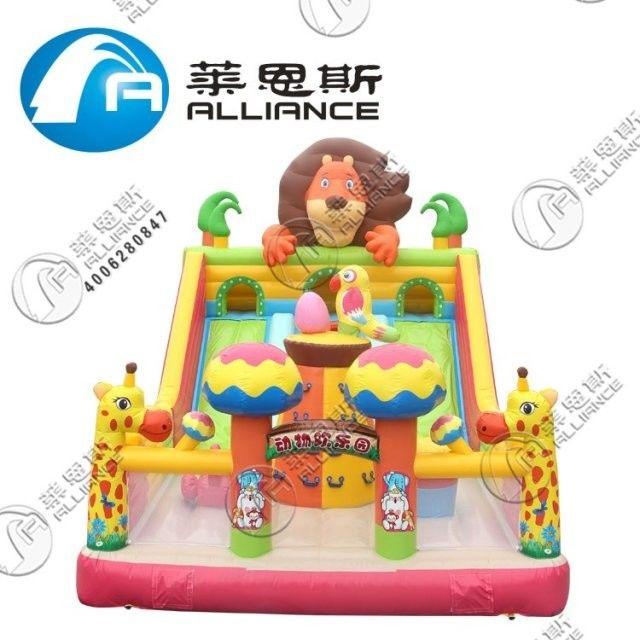 Waterproof Inflatable Slide Animal Paradise Jumping Bouncer Anti UV No Fading