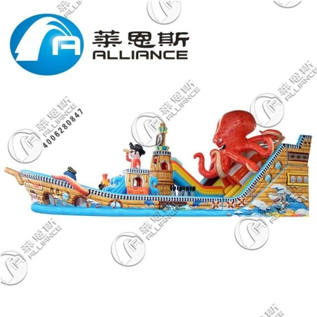 Durable Inflatable Bouncer Slide Inflatable Octopus Slide Fire Retardant